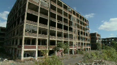 Detroit abandoned factory 5 Stock Footage