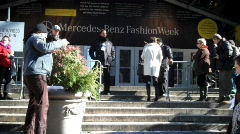 Fashion Week Front Angle Exterior-QuickTime H.264 Stock Footage