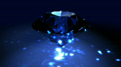 Blue Spinning Shiny Diamond - Diamond 01 (HD) Stock Footage