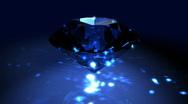 Blue Spinning Shiny Diamond - Diamond 01 (HD) Stock Footage
