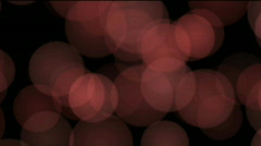 Light red circles effect, loopable - stock footage