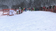 Sled dog races Stock Footage