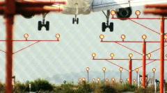 Jet Aircraft Landing 60FPS - stock footage