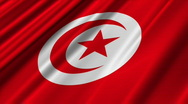 Tunisia Flag Loop 02 Stock Footage