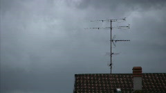 Antenna on a roof  Stock Footage