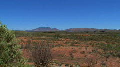 MacDonnell Ranges, Australian outback - stock footage