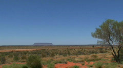 Mount Conner, australian outback Stock Footage