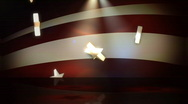 Stock Video Footage of Star Spangled Background 2