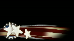 Star Spangled Lower Third Option 1 Stock Footage