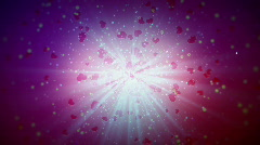 St. Valentin's day / hearts background Stock Footage