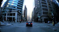 Point-of-View Driving City Streets Stock Footage