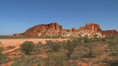 Rainbow valley outback Stock Footage
