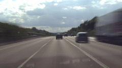 German Autobahn 01 Stock Footage
