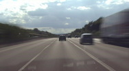 German Autobahn 01 Stock Footage