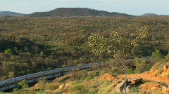 Train in the outback, Alice Springs Stock Footage
