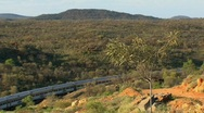 Stock Video Footage of train in the outback, Alice Springs