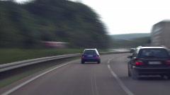 Stock Video Footage of german Autobahn 02