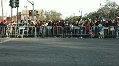 Mardi Gras Crowd along Fence - stock footage