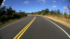 P.O.V. Fish-eye Driving on Rural Road Stock Footage