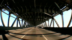 Point-of-View Driving Oakland Bay Bridge Stock Footage