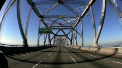 T/Lapse P.O.V. Journey into San Francisco via Road Bridges Stock Footage