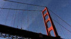 Point-of-View Beneath Golden Gate Bridge Stock Footage