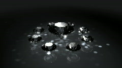 Set of Spinning Shiny Diamonds - Diamond 06 (HD) - stock footage