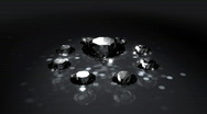 Stock Video Footage of Set of Spinning Shiny Diamonds - Diamond 06 (HD)