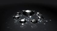 Stock Video Footage of Set of Spinning Shiny Diamonds - Diamond 06 (HD)