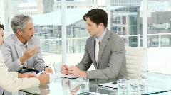 Charismatic businessmen having a brainstorming Stock Footage