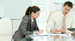 Multi-ethnic business people in a meeting Stock Footage