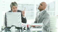 Frustrated businessmen at work Stock Footage