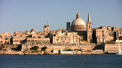 Valetta capital of Malta Stock Footage