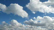 Stock Video Footage of White clouds and blue sky time lapse.