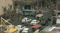 Traffic jam in district Malate in Manila in the Philippines Stock Footage