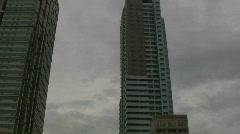 Skyscraper in district Malate in Manila -Philippines Stock Footage