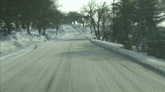 Winter driving - stock footage