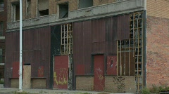 Detroit abandoned building 13 Stock Footage