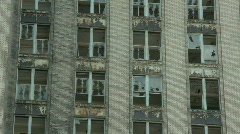 Detroit abandoned building 16 Stock Footage