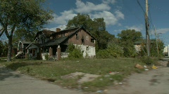 Detroit abandoned homes 17 - stock footage