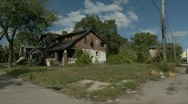 Stock Video Footage of Detroit abandoned homes 17