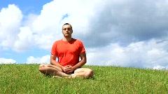 Transcendental meditation Stock Footage