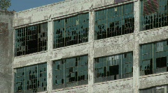 Detroit abandoned factory 2 Stock Footage