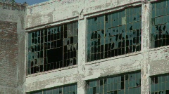 Detroit abandoned factory 3 - stock footage
