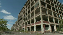 Detroit abandoned factory 4 Stock Footage