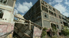 Detroit abandoned factory 6 Stock Footage
