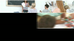 Montage of serious teenagers studying Stock Footage