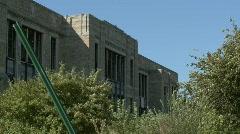 Detroit abandoned school 1 Stock Footage