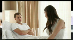 Slider of annoyed couples having argument Stock Footage