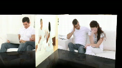 Montage of despairing couples having an argument Stock Footage